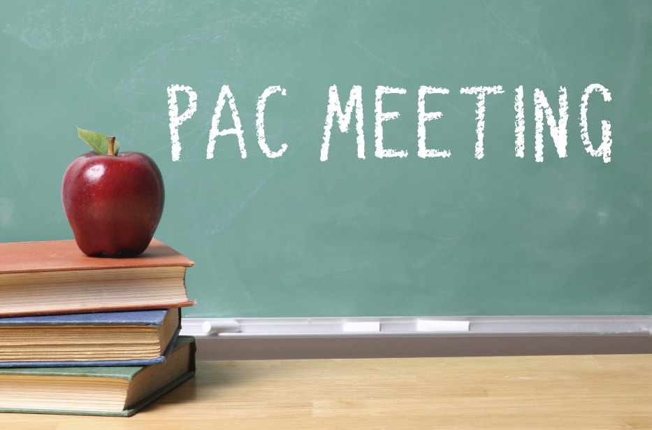 First PAC Meeting - September 23rd 6pm